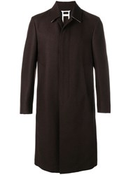 Thom Browne Relaxed Bal Collar Overcoat Brown