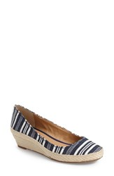 Women's Lucky Brand 'Tilly' Espadrille Wedge Indigo Fabric