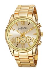August Steiner Men's Quartz Chronograph Bracelet Watch Metallic