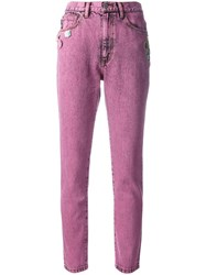 Marc Jacobs Stovepipe Jeans Pink Purple