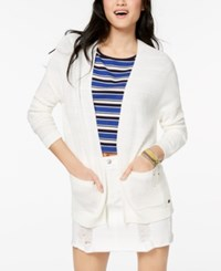 Roxy Juniors' Open Front Cardigan Marshmallow