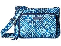 Vera Bradley Little Hipster Cuban Tiles Cross Body Handbags Blue