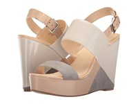 Nine West Dreamz 3 Off White Multi Patent Women's Wedge Shoes