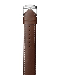 Philip Stein Teslar Philip Stein Dark Brown Stitched Calf Leather Watch Strap 22Mm