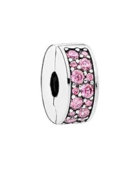 Pandora Design Pandora Clip Sterling Silver And Cubic Zirconia Shining Elegance Moments Collection Pink