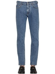Versace 18.5Cm Medusa Stretch Cotton Denim Jeans Blue
