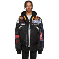 Vetements Black And Navy Alpha Industries Edition Racing Bomber Jacket