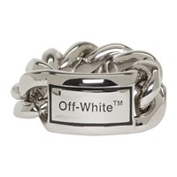 Off White Silver Sweetheart Ring