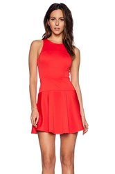 Eight Sixty Fit And Flare Dress Red