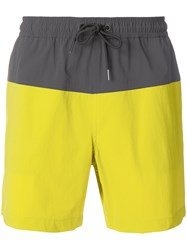 Theory Cosmos Swim Shorts Yellow And Orange
