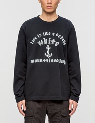 White Mountaineering Anchor Printed Fleece Lining Sweatshirt