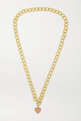 Carolina Bucci Florentine 18 Karat Yellow And Rose Gold Necklace One Size
