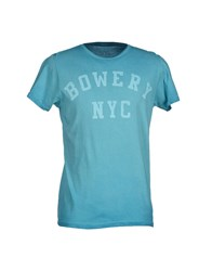 Bowery Topwear T Shirts Men Turquoise