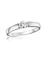 Forzieri 0.24 Ctw Diamond Solitaire Ring White Gold