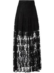 Chloa Floral Lace Maxi Skirt Black