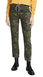 Sundry Camo Clean Straight Trousers Spruce