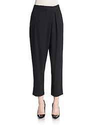 Theory Bitor Idol Jersey Knit Cropped Pants Black