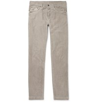 Massimo Alba Watercolour Dyed Cotton Corduroy Trousers Gray