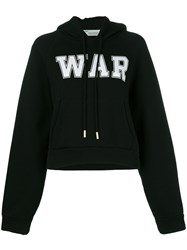 Off White 'War' Hoodie Black