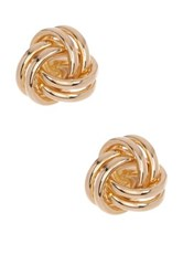 Candela 10K Yellow Gold Love Knot Stud Earrings Metallic