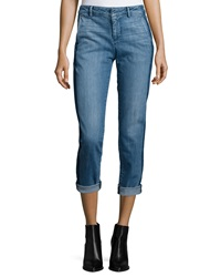 Denim Side Strapping Pants Vince