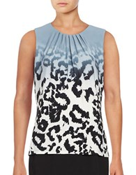 Calvin Klein Printed Knit Shell Dusty Shale