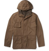 Aspesi Cotton Hooded Field Jacket Brown