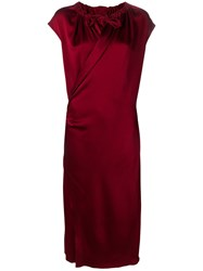 Joseph Wrap Midi Dress Red