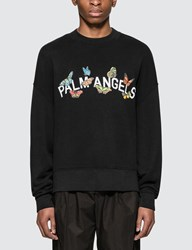 Palm Angels Butterfly College Sweatshirt Black