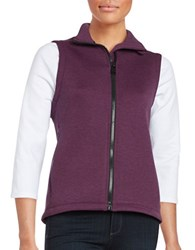 Calvin Klein Scuba Zip Up Moisture Wicking Vest Purple
