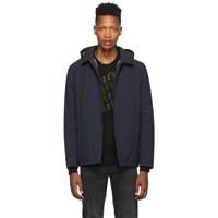 Herno Navy Packable Coaches Jacket