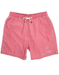 Hackett Red Number 1 Volley Swim Shorts