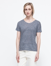 Objects Without Meaning Basia Tee In Stripe D. Blue Stripe