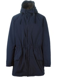 Aspesi Hooded Parka Blue