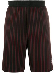 Les Benjamins Striped Track Style Shorts Black