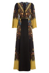 Etro Embellished Silk Maxi Dress Black