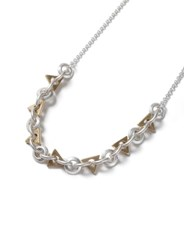 Topman Grey Mixed Geometric Chain Necklace