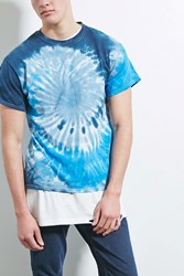 Forever 21 Hype Means Nothing Tie Dye Tee Blue Multi