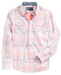 American Rag Men's Walsh Plaid Long Sleeve Shirt Only At Macy's Sunbaked Clay