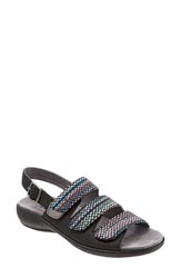 Trotters Women's Kendra Strappy Slingback Sandal Black Black Multi Leather