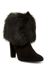Delman Lexie Genuine Calf Hair Cuff Boot Black