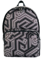 Bally Printed Backpack Grey