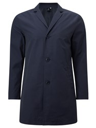 John Lewis Kin By City Showerproof Overcoat Navy