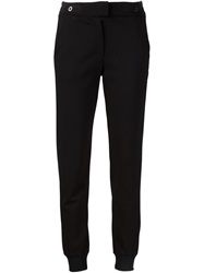 Getting Back To Square One Gathered Ankle Trousers Black