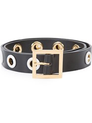 Carolina Herrera Gromet Thin Belt Black