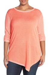 Plus Size Women's Two By Vince Camuto Asymmetrical Crewneck Sweater