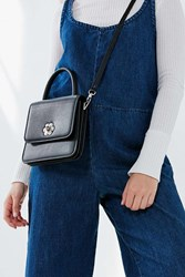 Urban Outfitters Claire Top Handle Mini Crossbody Bag Black