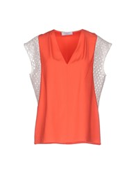 Axara Paris Shirts Blouses Women Coral