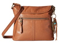 The Sak Esperato Flap Crossbody Tobacco Cross Body Handbags Brown