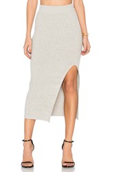 Bcbgeneration Rib Slit Skirt Gray